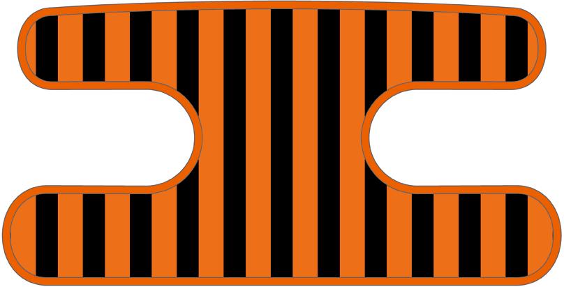 ハンドラップ ライナーズ ブラック×オレンジ