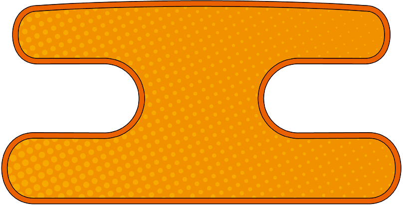 ハンドラップ Dot Dot オレンジ