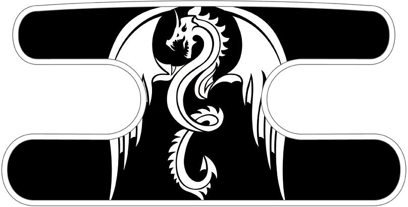 ハンドラップ ドラゴンズフューリー ブラック×ホワイト