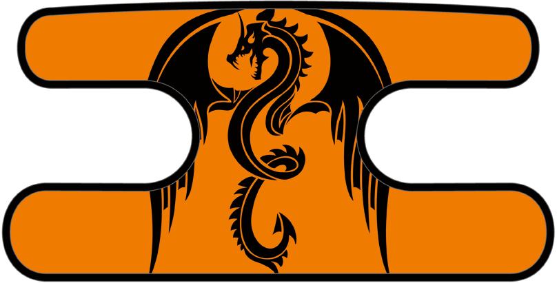 ハンドラップ ドラゴンズフューリー オレンジ×ブラック