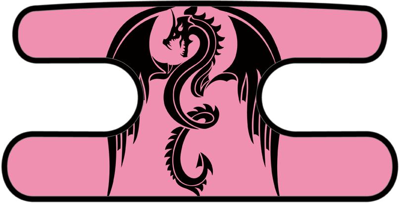 ハンドラップ ドラゴンズフューリー ピンク×ブラック