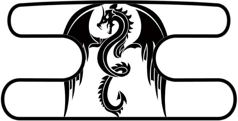 ハンドラップ ドラゴンズフューリー ホワイト×ブラック