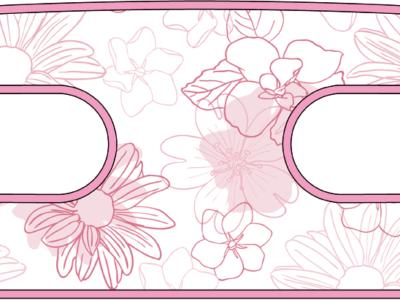 ハンドラップ Irregularity Flowers (面ファスナー)