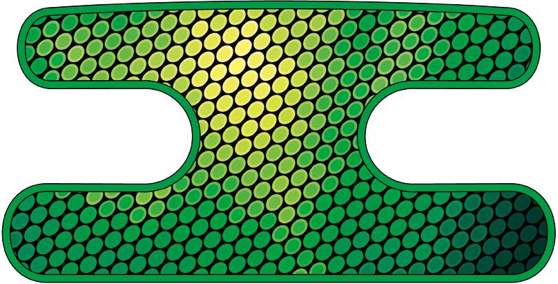ハンドラップ Oval Glare グリーン