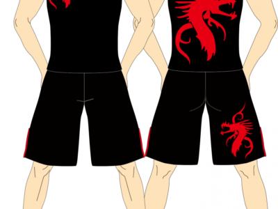 メンズ タンクトップ×ファイトショーツ Dragon Tribe
