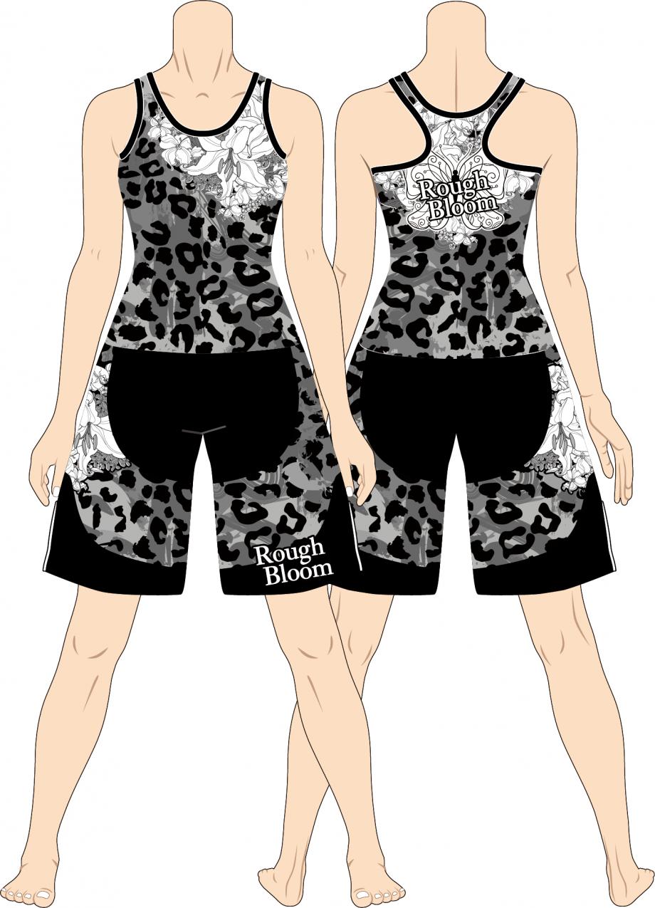 レディス ファイトショーツ Rough Bloom Leopard